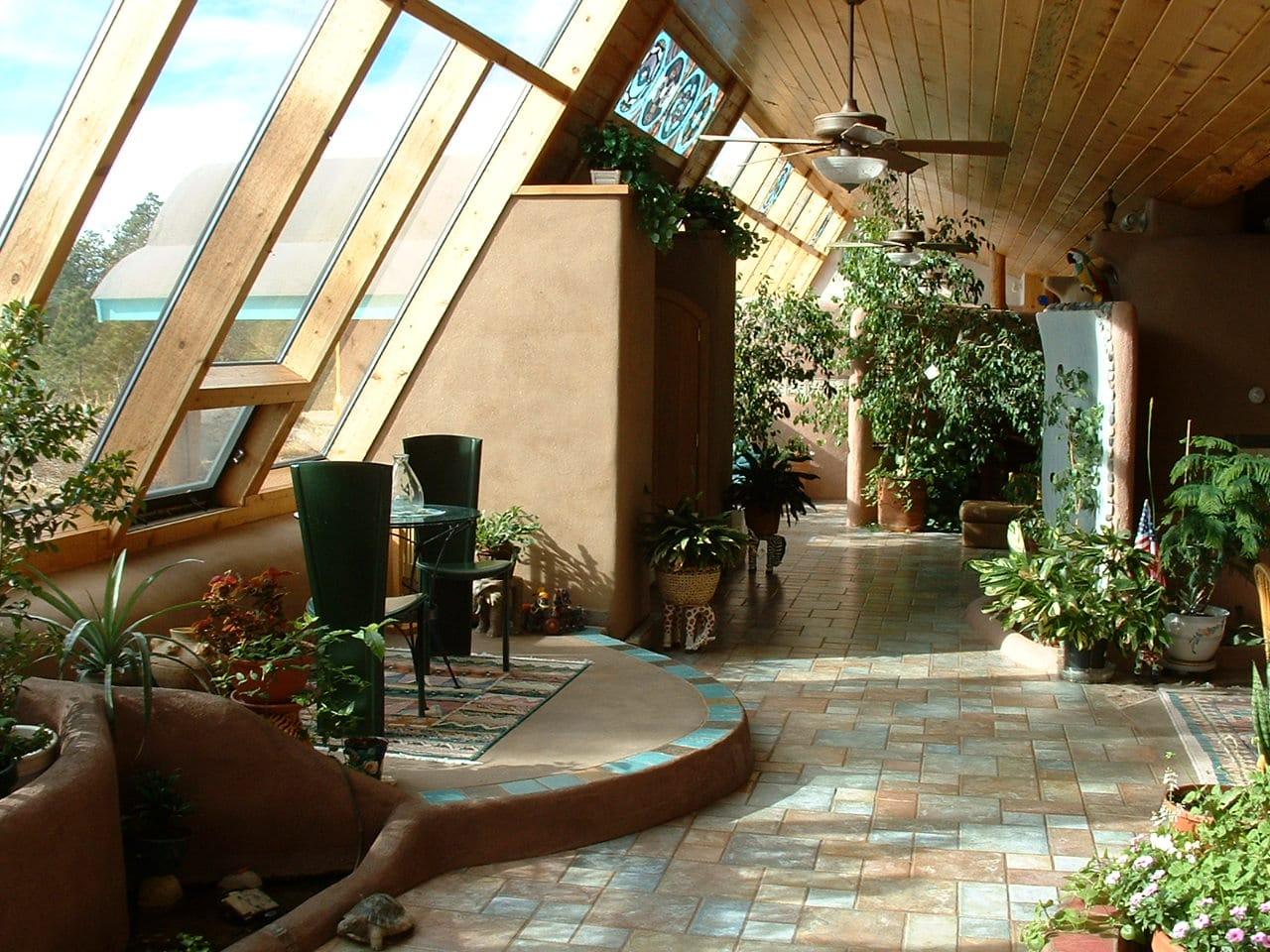 L'intérieur d'une maison éco-responsable