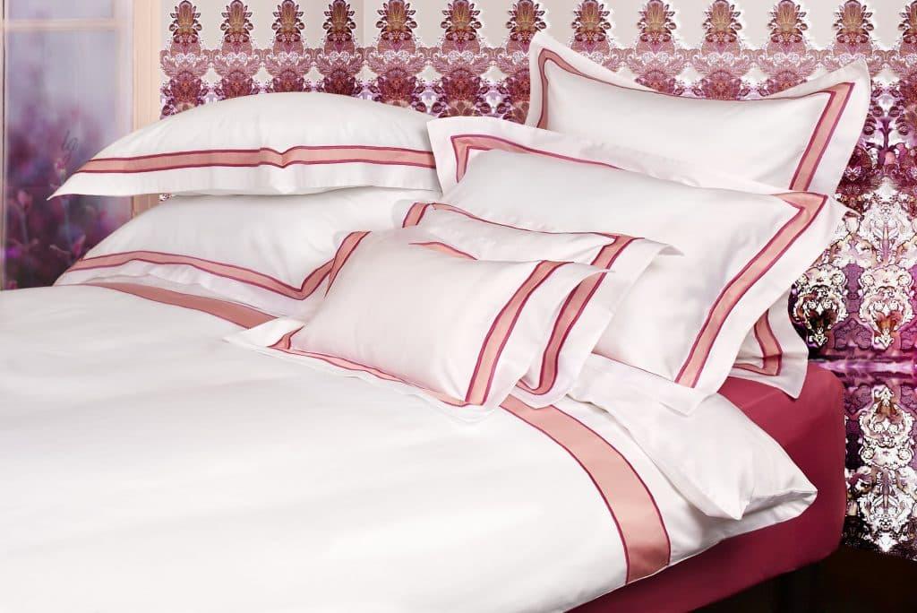 Stomboli parure de lit satin rose