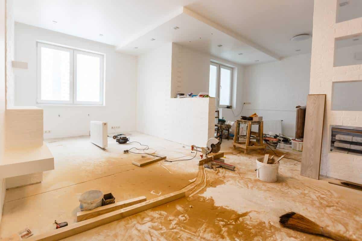 Des travaux dans une maison